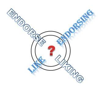 Like Endorsing, Endorse Liking