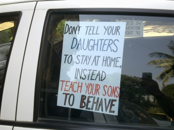 Teach your sons to behave