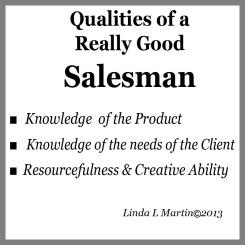 Qualities of Salesman